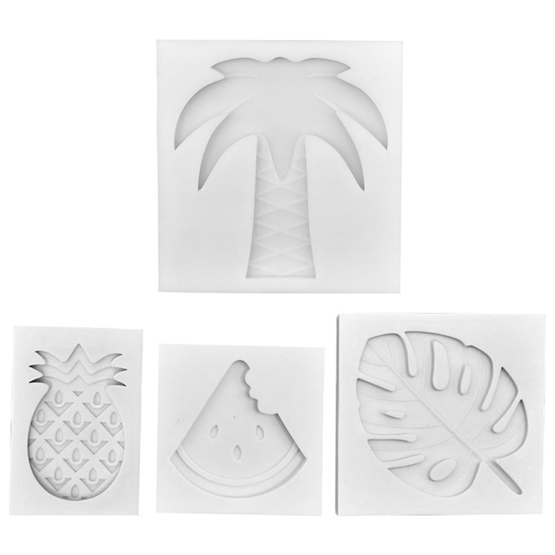 DIY Palm Trees leaf Silicone Molds Turtle Leaf Press Foil ...  Plane Tree Leaf Silicone Molds