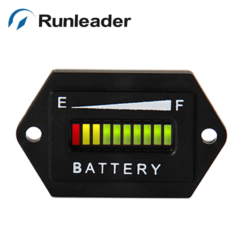 2pcs12/24V Battery Indicator Battery Tester Charge Meter For Golf Carts Car Van Forklift Truck Electric Vehicle RL-BI001