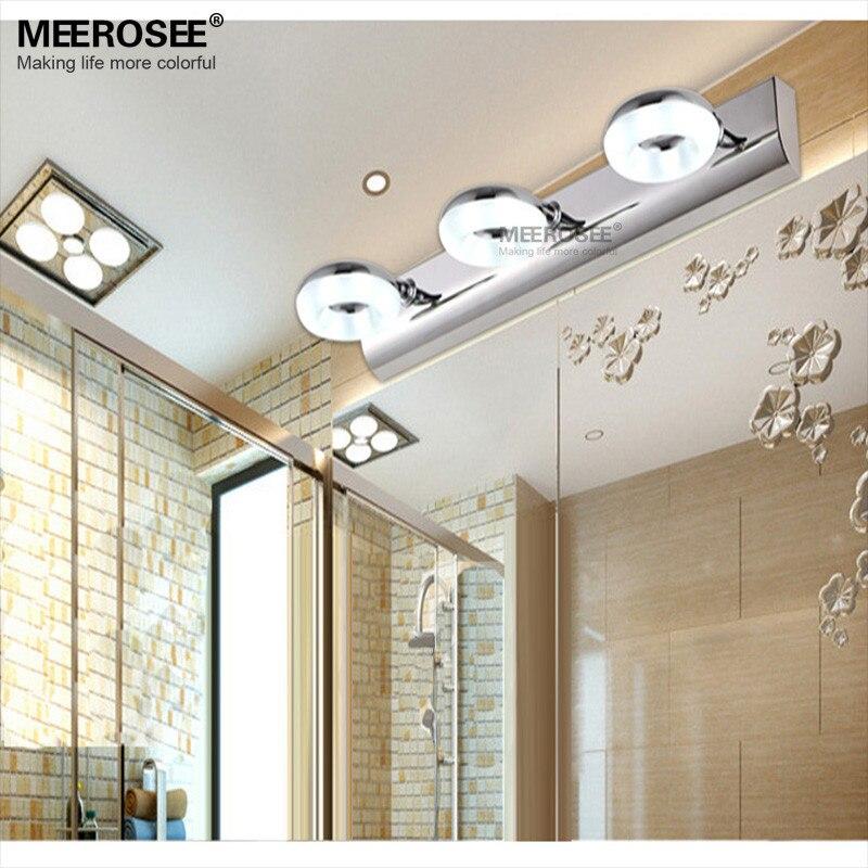 Iluminación llevada de la pared del baño lámpara luz espejo moderno ...