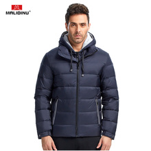 MALIDINU 2019 Down Jacket Men Winter Coat Brand Warm 70%White Duck Puffy Mens Jackets Coats