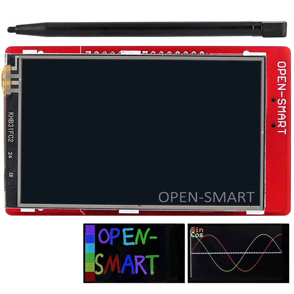 3.2 pollice TFT LCD modulo Display Touch Screen Shield temperatura a bordo sensore + Penna per Arduino UNO R3/Mega 2560 R3/Leonardo