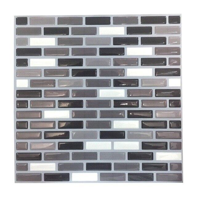Wootile White Grey Kitchen Backsplash Tile Mosaic Stone Self Adhesive And Removable Wallpaper In