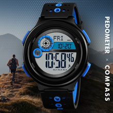 Skmei Men Sport Watch Compass pedometer calorie mileage distance Countdown Metronome Digital Watches Man Waterproof Clock 1375 hot watch ezon gps timing fitness watches sport outdoor pedometer waterproof digital watch speed distance calorie counter