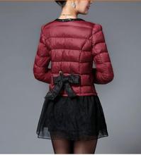 Бесплатная доставка! Новый winte хлопок-ватник одежда в длинная юбка маятник вниз — хлопка-ватник сгущаться сплайсинга пальто