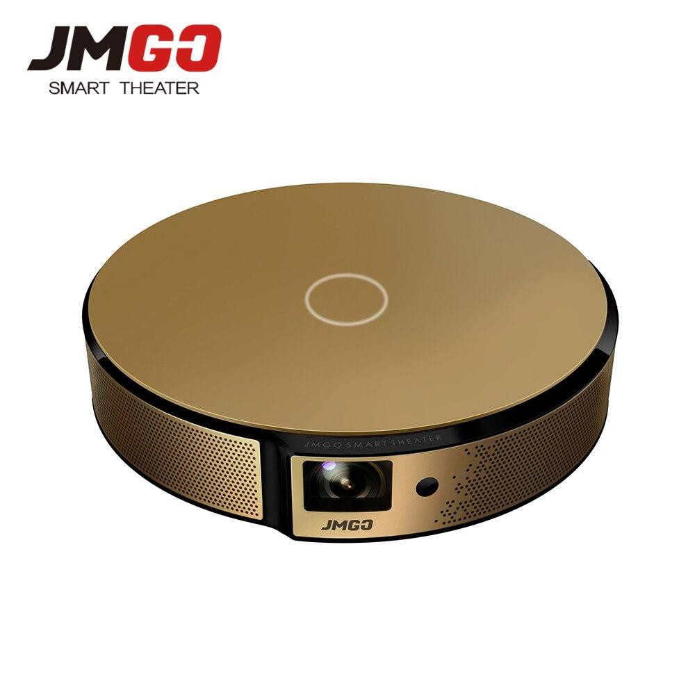 JMGO E8 HD DLP Projector 750 ANSI Lumens Built-in Android WIFI Bluetooth Speaker HDMI USB 3D Support 1080P LED TV Video Beamer yt v3d p 3d dlp projector hd video hdmi converter black