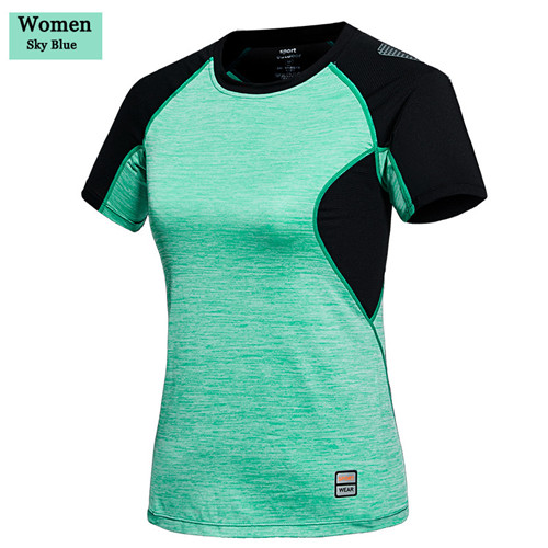 Summer outdoor Camping Hiking women Breathable quick-drying <font><b>T</b></font>-<font><b>shirts</b></font> female Slim round neck short-sleeved fitness <font><b>t</b></font>-<font><b>shirt</b></font> M-4XL image