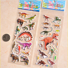 3D Puffy Bubble Stickers Dinosaur Cartoon Princess Cat Waterpoof DIY Baby Toys for Children Kids Boy Girl(China)