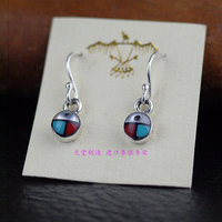 Thailand import, lovely lady style 925 sterling silver small beetles earrings 1 pair