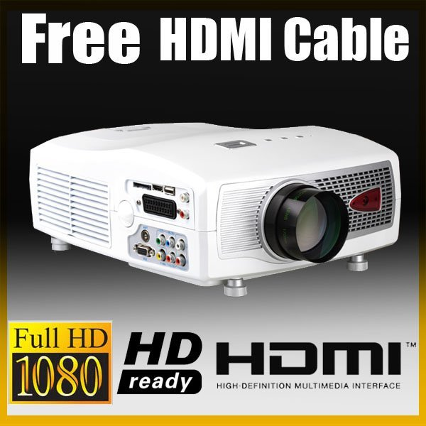 Wholesale -- Brand New LCD HD 1080P Digital Projector for Game DVD TV P801