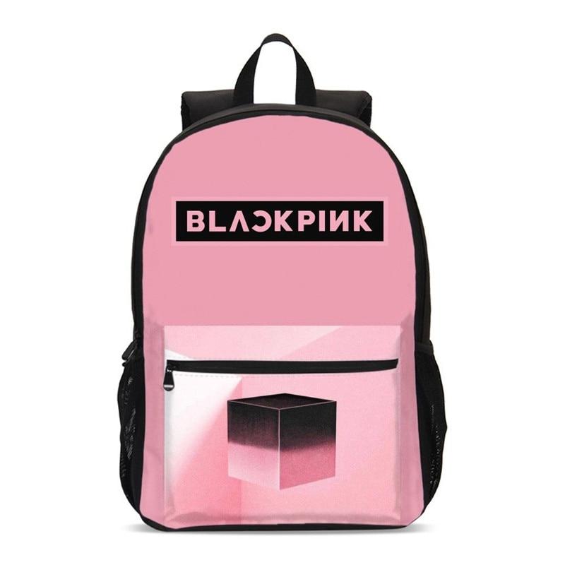 Rucksäcke Für Männer Frauen Mode Blackpink Brief 3D Druck Bookbag Schule Tasche Laptop Rucksäcke Reise Rucksack Casual Daypacks-in Rucksäcke aus Gepäck & Taschen bei  Gruppe 1