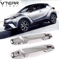 For Toyota C HR CHR 2017 Accessories Door Handle Cover Front Door Knob Plating Trim Chrome