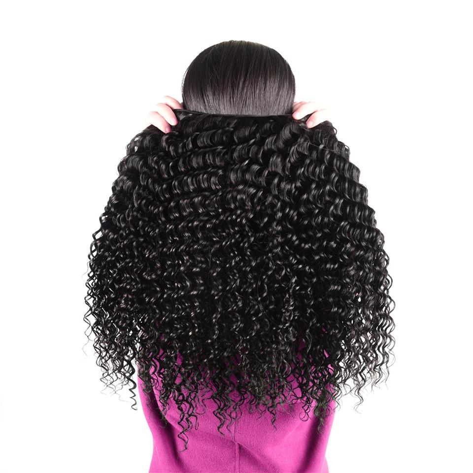 HTB1GOqDopmWBuNjSspdq6zugXXay AliPearl Hair 3 Bundles Brazilian Deep Wave 100% Human Hair Bundles With Frontal Natural Black Remy Hair Extension Free Shipping