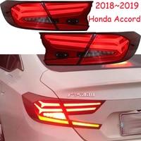 4 шт. бампер светодиодный LED 10th задний фонарь для Accord Spirior 2018 2019 год черный, красный цвет Accord задний свет