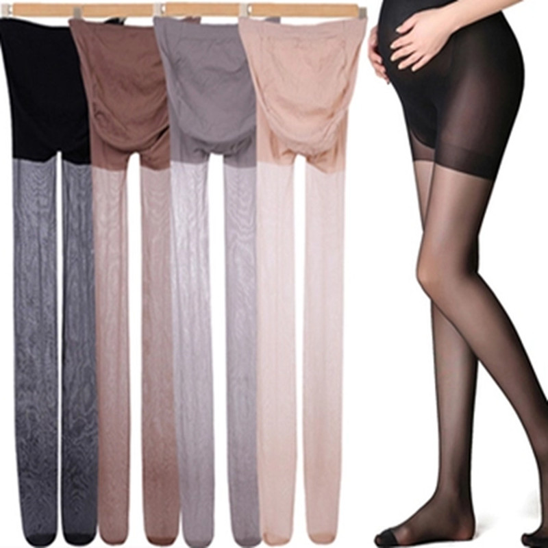 Maternity Clothes Summer Tights Full Protection Slim Solid Color Oversized Pregnant Women Pants  Maternity Pants Women Pantyhose
