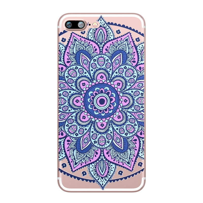 Flower Love Cherry Blossoms Rose Flowers for iphone 7 6 X 6S 8 PLUS SE 5S 7plus Silicon Clear TPU Transparent Capinha Case Funda (10)