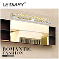LEDIARY Modern14W 56cm 70LEDs Crystal Wall Mirror Lamp LED Makeup Mirror Picture Display Wall Light Waterproof Bathroom Lamp