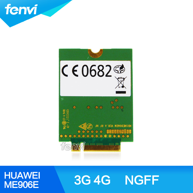 Original Unlocked HUAWEI ME906E 4G LTE Module 3G Quad-band GPS WCDMA HSPA+GPRS NGFF Wireless 3G WWAN card for Ultrabook Laptop jinyshi for 68dp9 2pcs ngff m 2 ipex4 antenna 3g card for dell venue 8 and 11 pro em8805 wwan hspa ngff dw5570