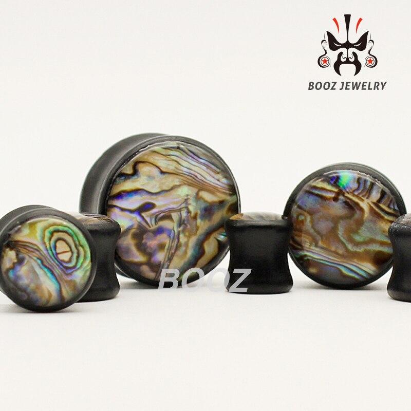 패션 일반 나무 피어싱 귀 플러그 터널 바디 쥬얼리 무료 배송 10mm 25mm 귀 확장기-에서바디 쥬얼리부터 쥬얼리 및 액세서리 의  그룹 1