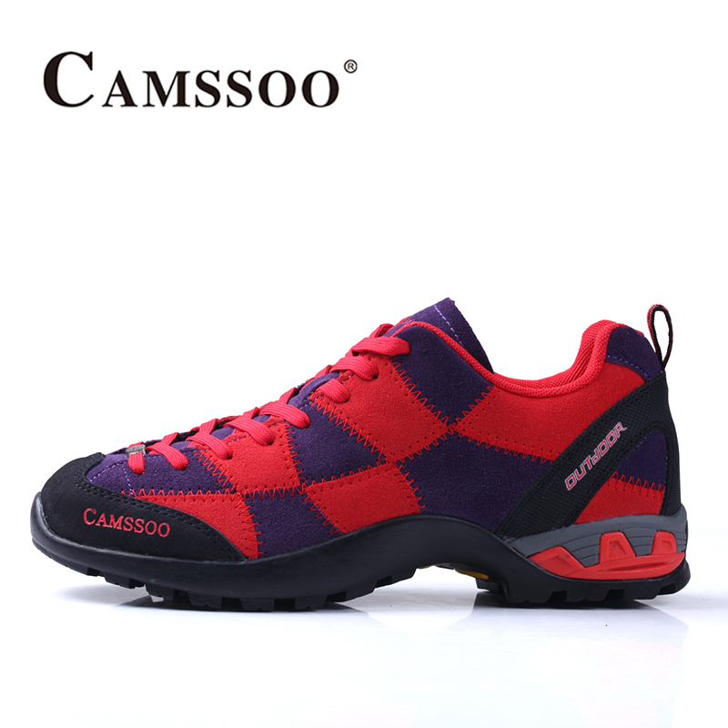 2018 Camssoo Womens Walking Shoes Breathable Outdoor Climbing Sports Shoes Non-slip Travel Shoes For Women Free Shipping 3096