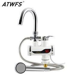 ATWFS سخان مياه الحنفية 220 فولت المطبخ صنبور لحظية دش مسخن للمياه الفورية سخانات Tankless تسخين المياه
