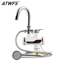 ATWFS 220v Heater Shower Instant Heaters Water Heating Water Heater Tap Kitchen Faucet Instantaneous Water Tankless