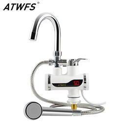 ATWFS В 220 В нагреватель для душа мгновенные нагреватели водонагреватель кран кухонный кран мгновенная вода без резервуара