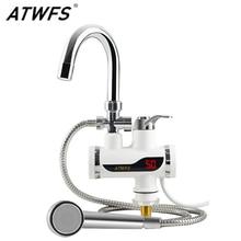 ATWFS calentador instantáneo de 220v para ducha, calentador de agua, grifo calentador de agua, grifo de cocina, agua instantánea sin depósito
