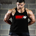 New Men's Fitness Vest Muscle Tank Tops Bodybuilding & Workouts Sportswear Singlet Shirts 100% cotton undershirt gyms vest