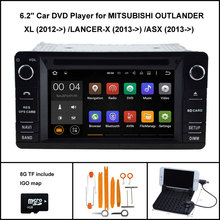 Android 7.1 Quad Core Car DVD para Mitsubishi outlander LANCER-X ASX 2013-2015 1024×600 HD WiFi/ 3G + DSP + RDS + 16 GB flash