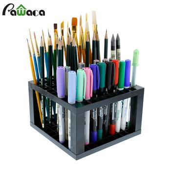 96 otworów plastikowy ołówek i uchwyt na szczotki stojak na biurko Organizer na długopisy pędzle malarskie kredki markery dostawa sztuki tanie i dobre opinie Pawaca CN (pochodzenie) Q5EA-114 Podłogowy Składana półka Pencil Brush JEDNA Przechowywanie posiadaczy i stojaki SALON
