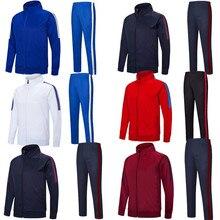 Спортивные штаны для взрослых и молодых мальчиков, спортивный костюм для бега, спортивные куртки для футбола, высокое качество, 6806