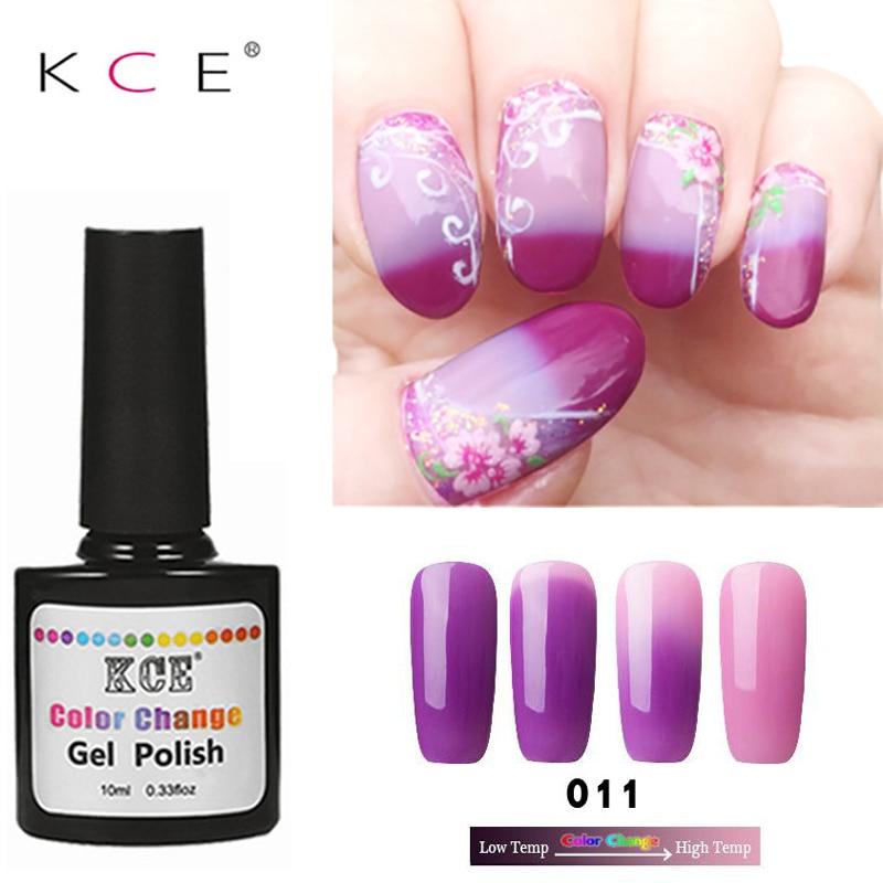 Neueste 18 Farben Mode Frauen Freies Verschiffen Nagellack Temperaturänderung Nagel Farbe UV Gel für Nagel Tränken weg Gelpoliermittel