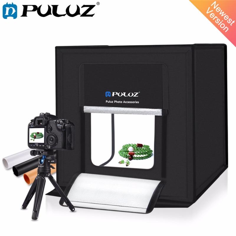 PULUZ 40*40 cm 16 pouces lumière Photo Studio boîte Mini photo studio photographie Softbox Led Photo éclairage Studio tir tente boîte EU