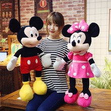 цена на 100cm Super Giant  Mickey Mouse Minnie Mouse Stuffed Plush Kids Toys Soft Children Lover X-mas Valentine Day Birthday Gifts