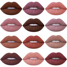 Liquid Lipstick Hot Sexy Colors Lip Paint Matte Waterproof Long Lasting Gloss Kit