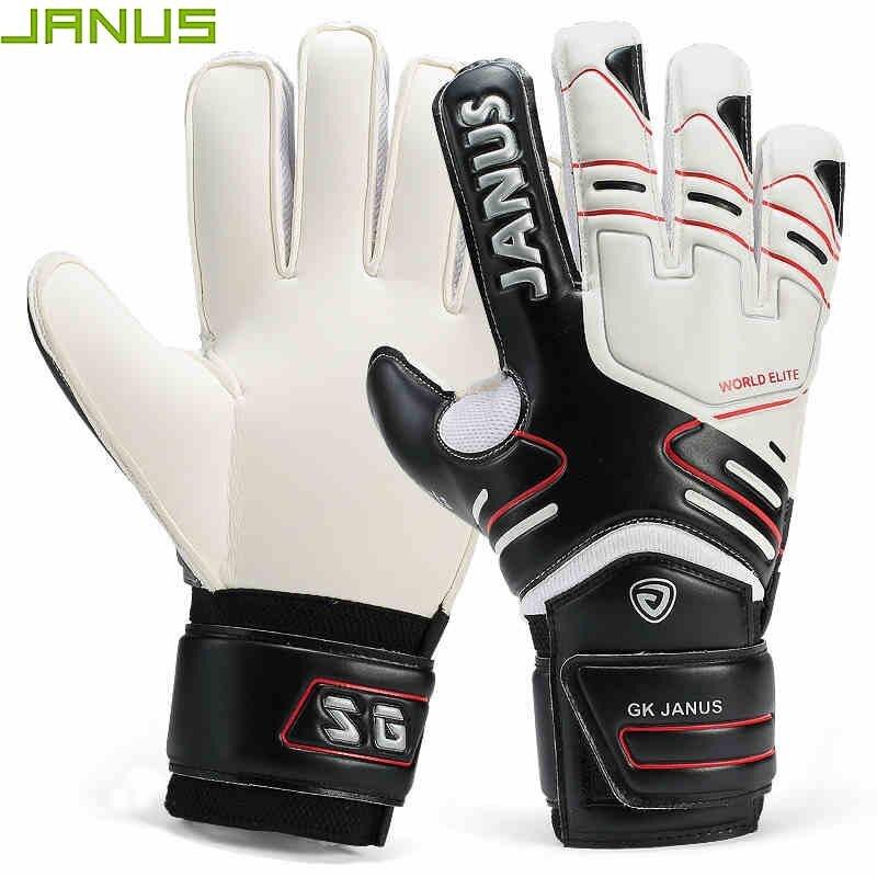 Профессиональные вратарские перчатки JANUS с защитой пальцев, утепленные латексные перчатки для футбола, игры в футбол, вратарь, Лидер продаж