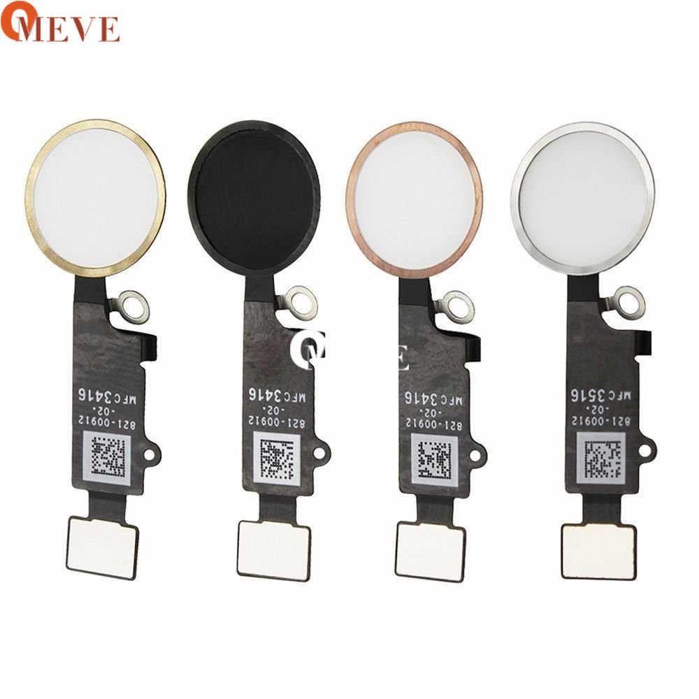 2 pièces haute qualité accueil bouton avec câble flexible pour iPhone 7 7plus noir/blanc/or maison Flex assemblage
