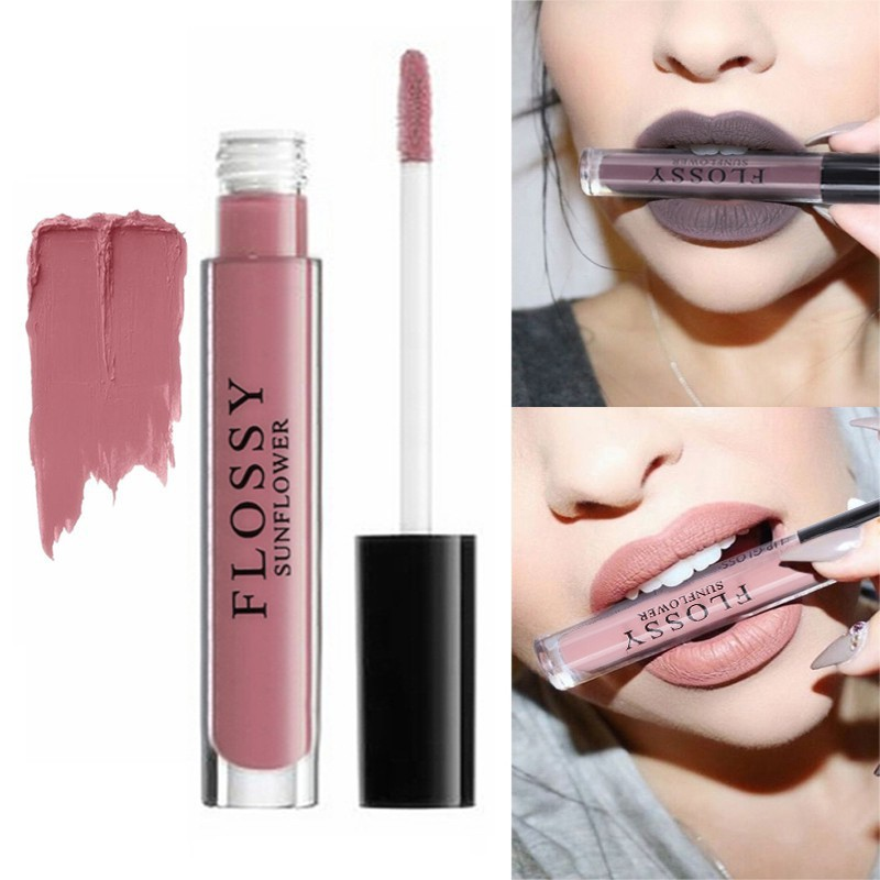 1pcs Women Makeup Waterproof Batom Tint Lip Gloss Red Velvet True Brown Batom Matte Lipstick 1