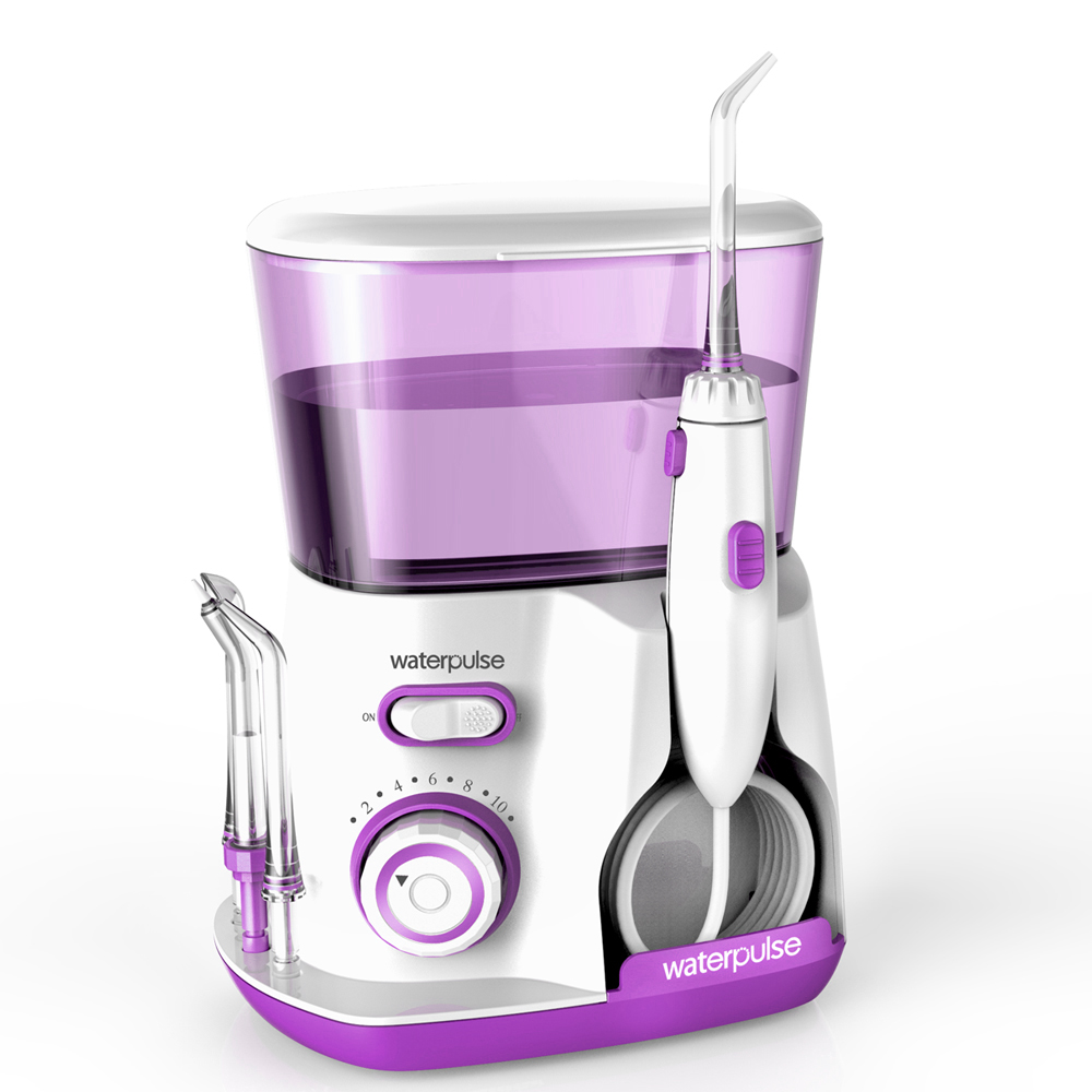 Waterpulse Water Jet Dental Oral Irrigator Water Flosser Dental Floss Dental Teeth Cleaning with 10 pressure settings V300Violet waterpulse rechargeable 3 pressure settings water flosser oral irrigator dental water flosser waterpick 4pcs jet tip 240ml tank