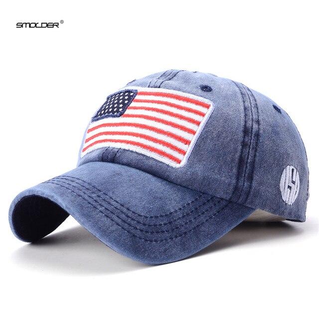 aedc1523d [Arder] 2018 nuevo sombreros del papá hombres ee.uu. bandera gorra de