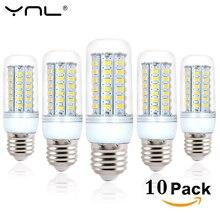10pcs Lampada LED Lamp E27 220V 240V LED Corn Bulb SMD5730 Lamp LED Bulbs 24/36/48/56/69LEDs Home Decorated Chandelier Lights