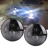 For UAZ 4x4 Jungle Lada 4x4 urban Niva 7'' Led Headlight H4 High Low Beam for Jeep JK TJ LJ Land Rover Defender