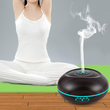 500ml USB Electric Aroma Air Diffuser Wood Ultrasonic Air Humidifier Essential Oil Aromatherapy Cool Mist Maker For Home tsundere l air humidifier 500ml essential oil diffuser essential oil wood grain cool mist maker aromatherapy for home