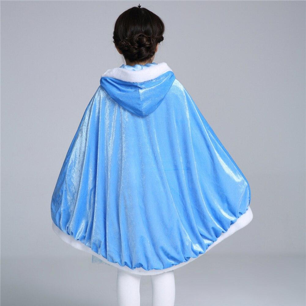 Қыс 2017 Қыздар Elsa Cloak Қыздар Плюс Velvet - Балалар киімі - фото 3