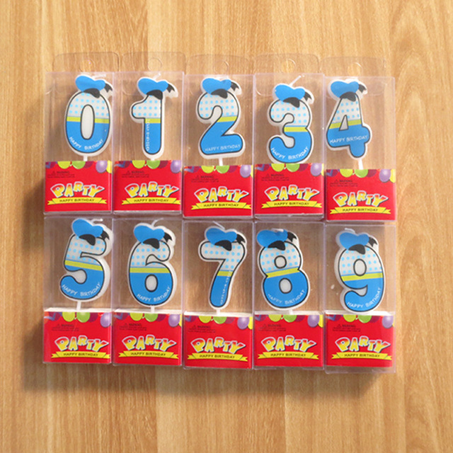 Number Candle Party Happy Birthday 5cm 2inch Height 0 1 2 3 4 5 6 7 8 9 Boy Candles