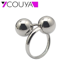 Couya brand us size 6 10 wide silver hollow beads rings for women men trendy puck.jpg 250x250