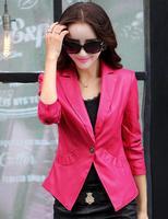 Basic Thin Coat Ladies Fashion Leather Jackets Women Leather Jackets And Coats