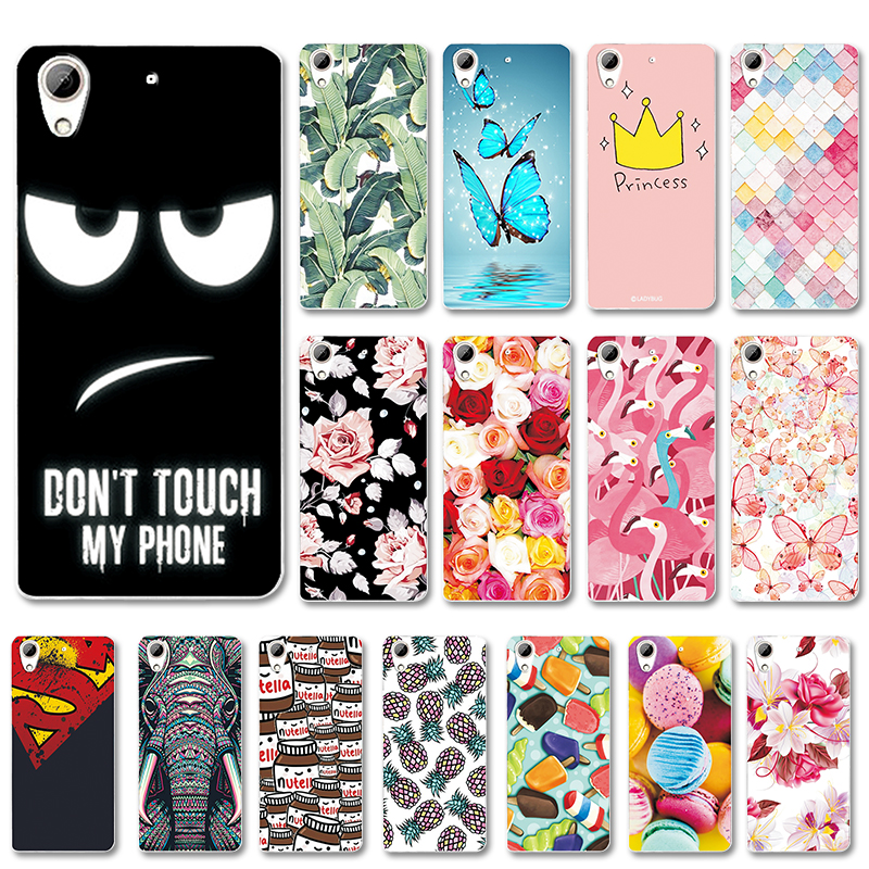 Various Art Painted Case For HTC 626 628 626w 626G Desire 628 Flower Capa Phone Shell For HTC 626 628 Cover Fundas Cute Bag image