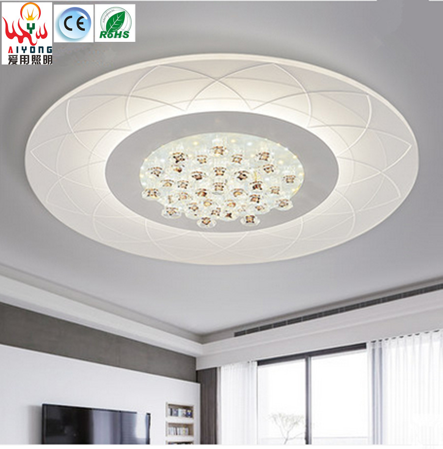 Ultra thin circular ceiling dome light led crystal lamp simple ultra thin circular ceiling dome light led crystal lamp simple modern atmospheric flower type with remote living room lamp in ceiling lights from lights arubaitofo Images