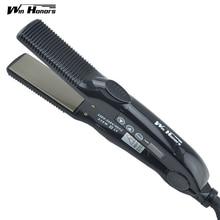 Discount! Winhonors Digital Hair Straightening Flat Iron Intelligent LCD Hair Curler Straightener Professional Styling Tools Salon